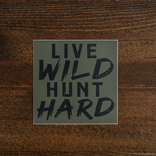 Live Wild Hunt Hard Sticker