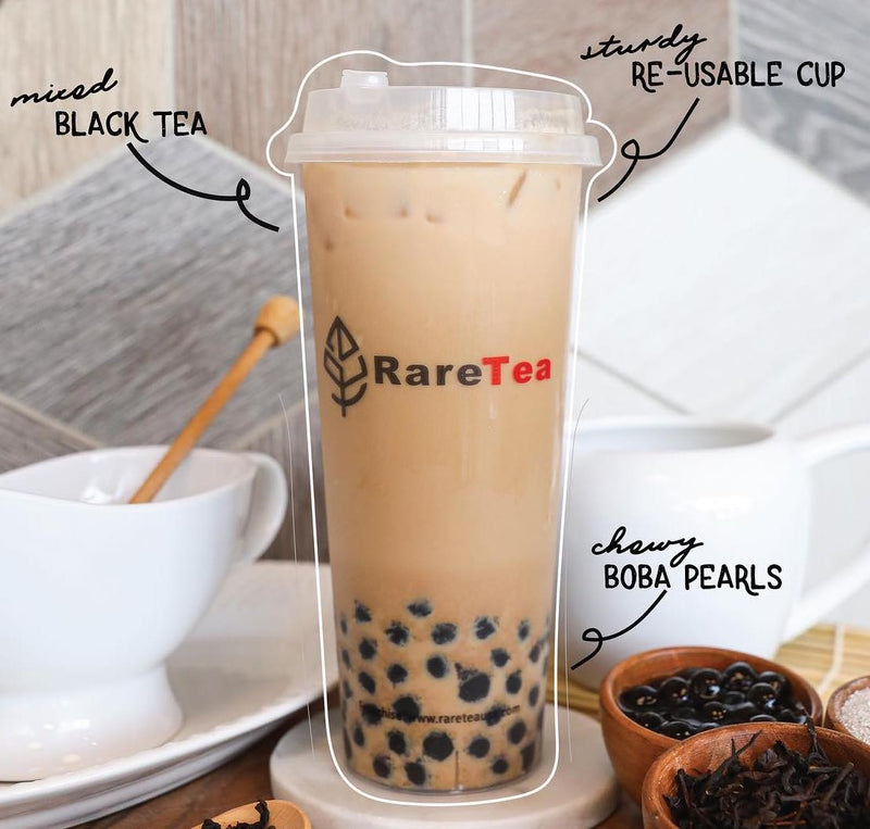 RareTea PP Cup+Straw Set (20 Sets) - RARETEA DIY SHOP