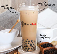 RareTea PLA Cup+Straw Set (20 Sets) - RARETEA DIY SHOP
