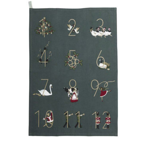 Sophie Allport 12 Days of Christmas Tea Towel