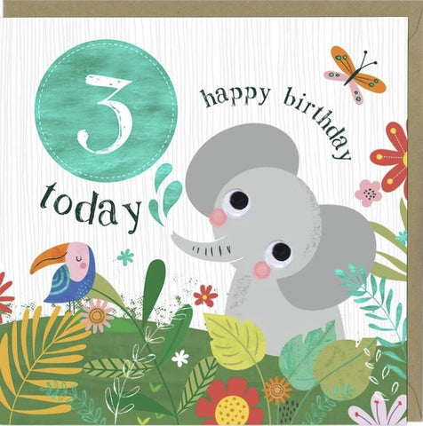 3 Today Happy Birthday Greetings Card