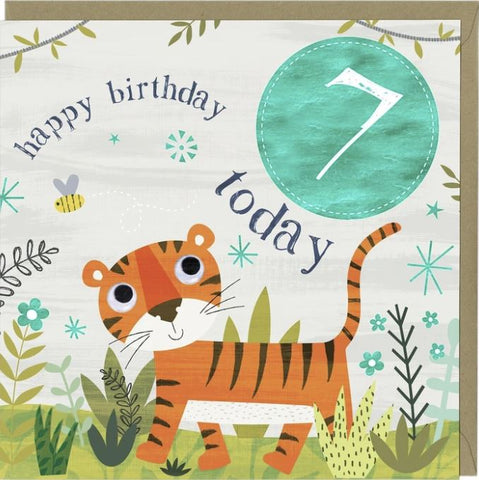 Happy Birthday 7 Today Greetings Card