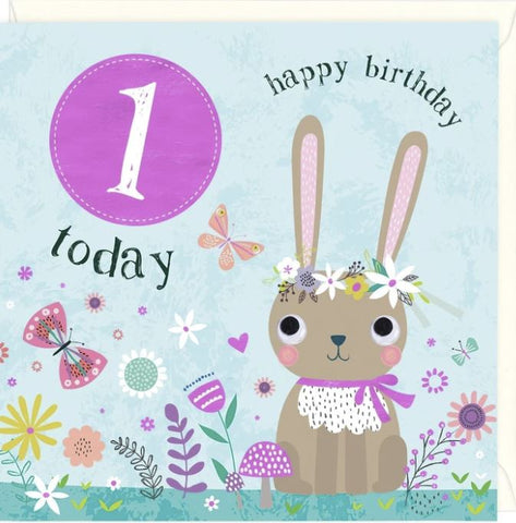 1 Today Happy Birthday Greetings Card