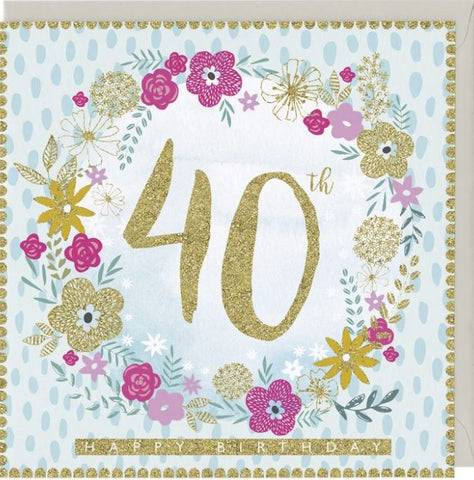 40th Happy Birthday Greetings Card