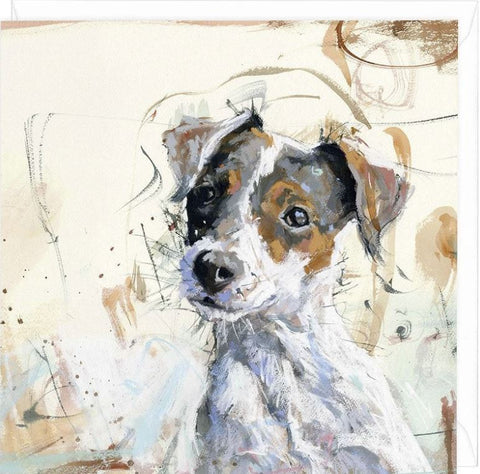 Whistlefish Jack Russell Greeting Card by James Bartholemew