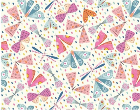 Pastel Butterflies Gift Wrap with Matching Tags