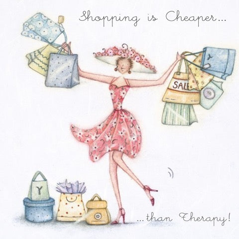 Shopping is Cheaper.....  Greeting Card from Berni Parker