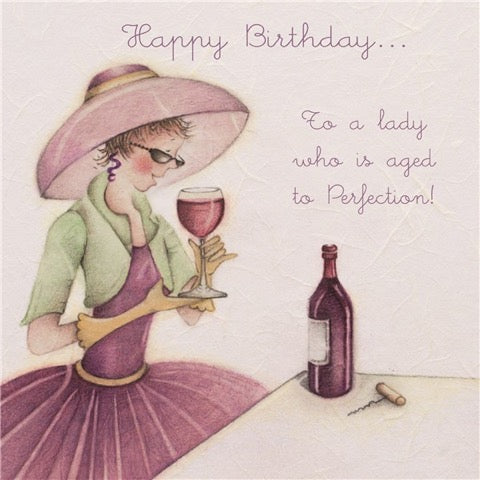Happy Birthday to a Lady...birthday card from Berni Parker