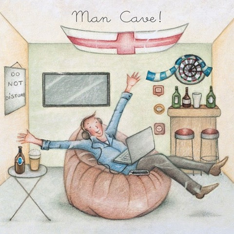 Man Cave! Greeting Card from Berni Parker