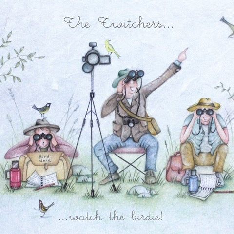 The Twitchers....  Greeting Card from Berni Parker
