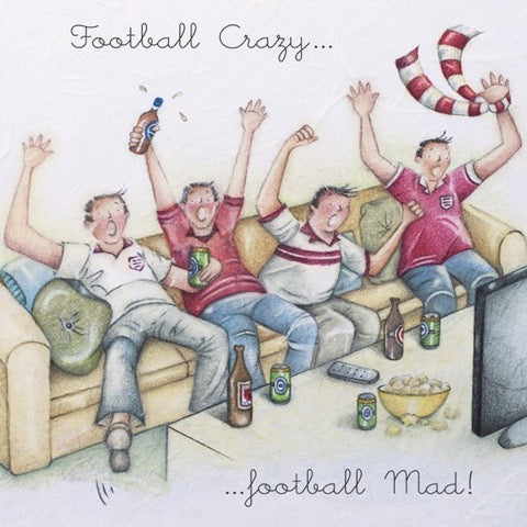 Football Crazy.... Greeting Card from Berni Parker