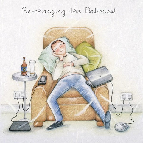 Recharging the Batteries! Greeting Card from Berni Parker