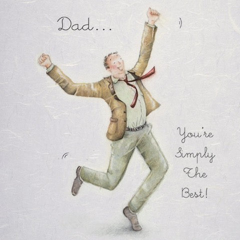 Dad You're Simply the Best Greeting Card from Berni Parker