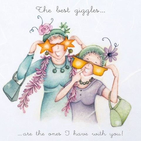 The Best Giggles.... Greeting Card from Berni Parker