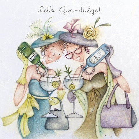 Let's Gin-dulge! Greeting Card from Berni Parker