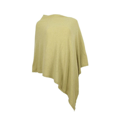 Italian Wool/Cashmere Mix Bamboo Poncho from Cadenza