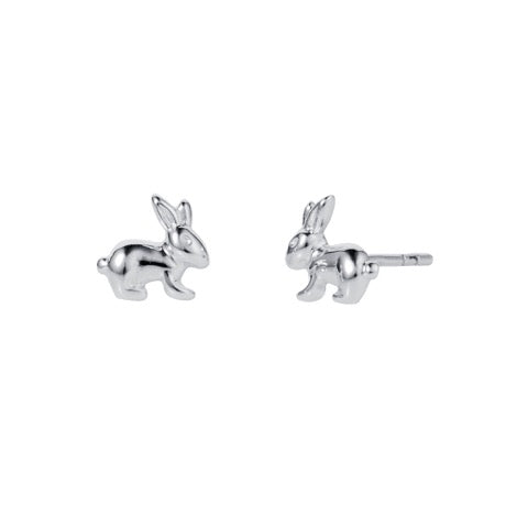 Christin Ranger Bunny Rabbit SilverStud Earrings