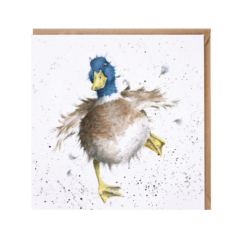 A Waddle and a Quack Greeting Card from Wrendale Designs.