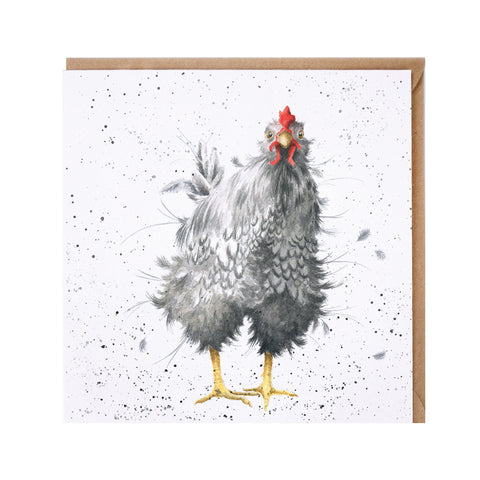 Curious Hen Greeting Card from Wrendale