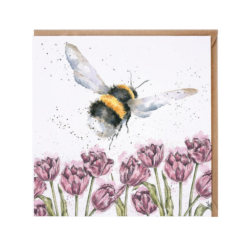 Wrendale Flight of the Bumblebee Greeting Card from  heartsdeco.com