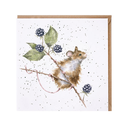 Brambles Greeting Card from Wrendale Designs.