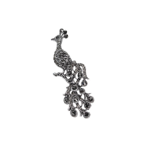 Sparkling Crystal Peacock Brooch