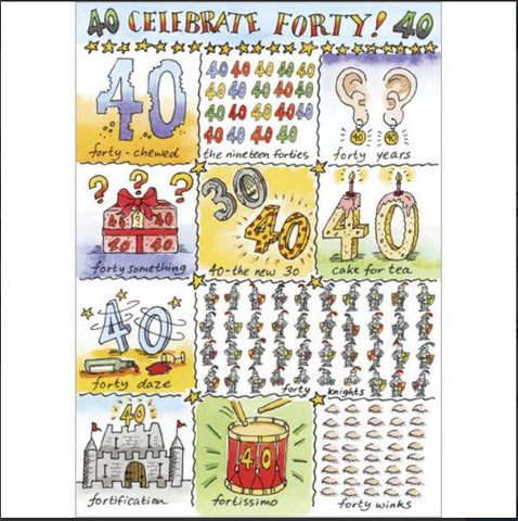 Celebrate 40! Birthday Greeting Card from Flamingo