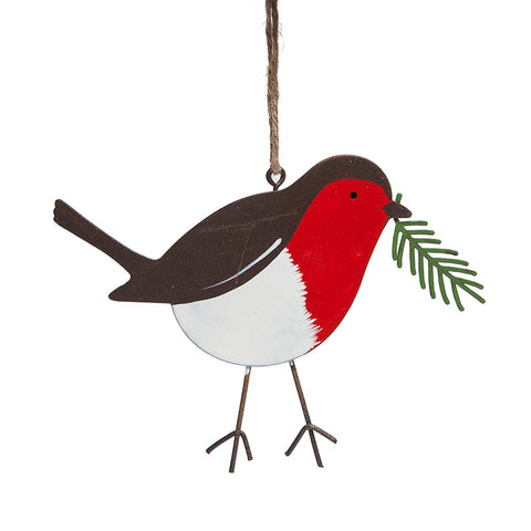 Heaven Sends Metal Robin Decoration