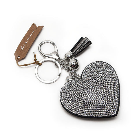 Hot Tomato Classic Heart Crystal Encrusted Keyring
