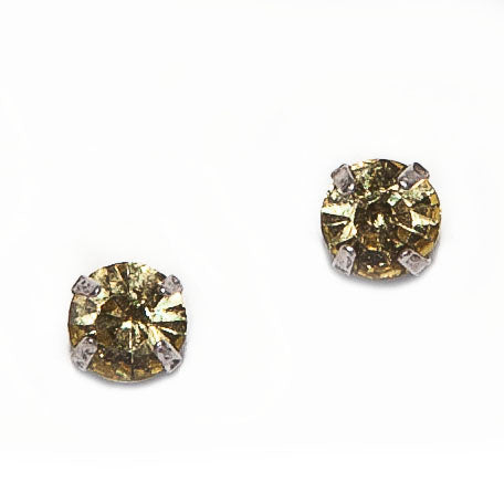 Hot Tomato Little Miss Crystal Stud Earrings in Citrine