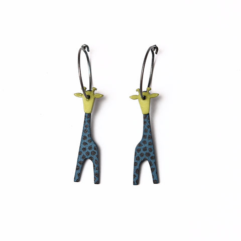 Lene Lundberg K-Form Teal/Green Giraffe Earrings