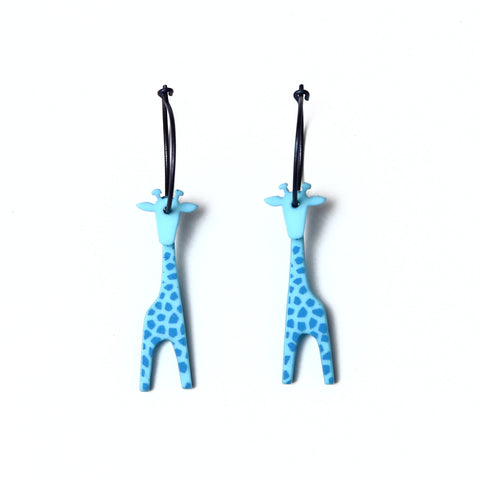 Lene Lundberg Blue Giraffe Earrings