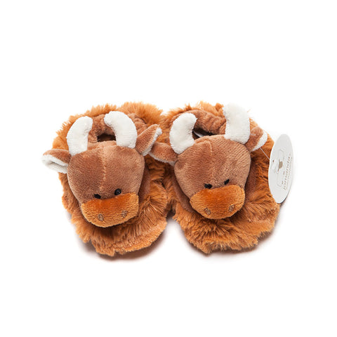 Jomanda Highland Coo Baby Slippers top view