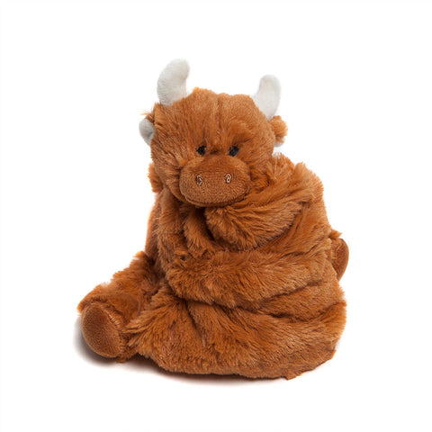 Jomanda Highland Coo Baby Soother unfolded