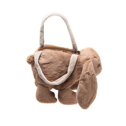 Jomanda Soft Brown Bunny Handbag side view