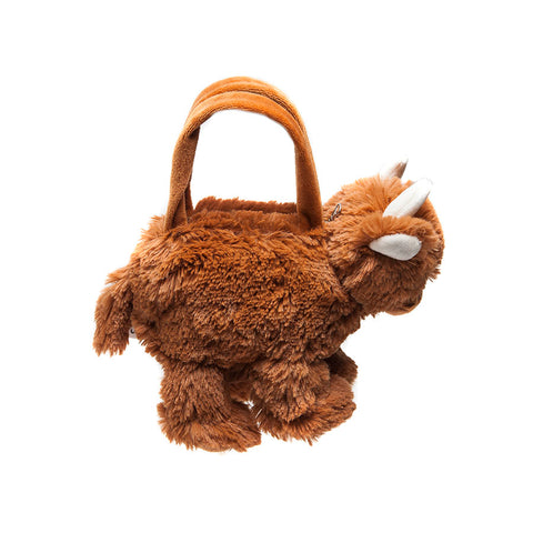 Jomanda Soft Highland Coo Handbag side view