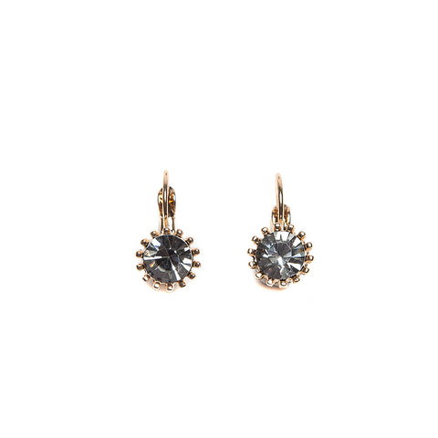 Lovett Ice Blue Swarovski Crystal on Gold French Wire Earrrings