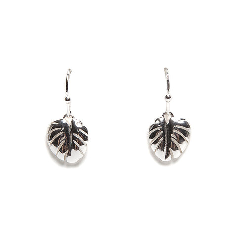 Lovett Silver-Finish Cheeseplant Drop Earrings