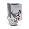Doris the Quirky Hen in white and black crackled finish from Naasgransgarden 11 cm with box