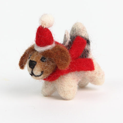 Amica Fair Trade Felt Christmas Dog