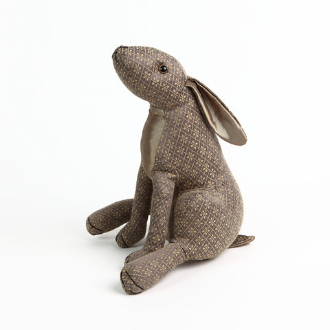 Dora Designs Gold Patterned Hare Doorstop