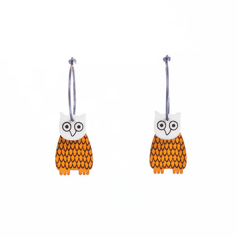 Lene Lundberg K-Form Owl Earrings