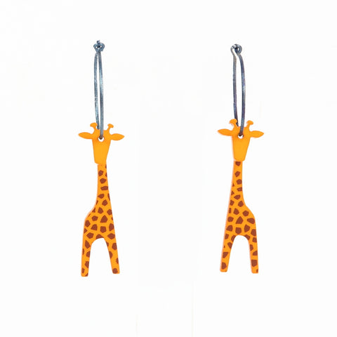 Lene Lundberg K-Form Light Tan Giraffe Earrings