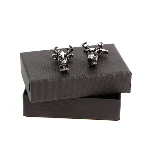 Stag Head Cufflinks boxed