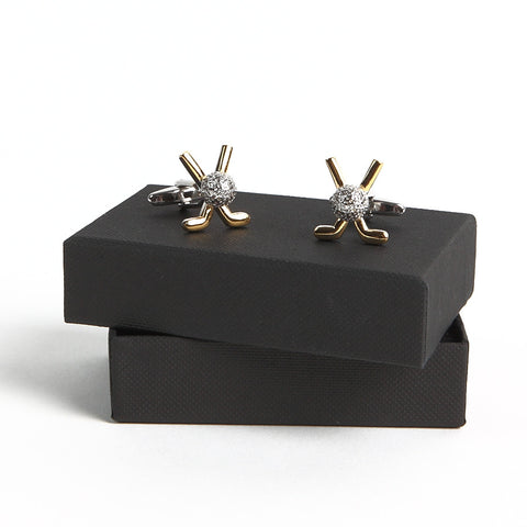 Golf Clubs with Golf Ball Cufflinks with box