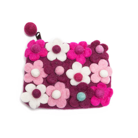 Felt So Good Purple Floral Felt Purse
