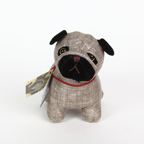 Bogart the Pug Doorstop from Dora Designs front view
