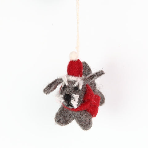 Felt Christmas Schnauzer Decoration from Amica
