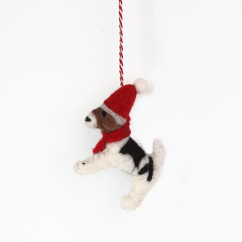 Felt Christmas Terrier Decoration from Amica