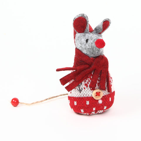 Red Christmas Mouse Decoration from shoeless joe